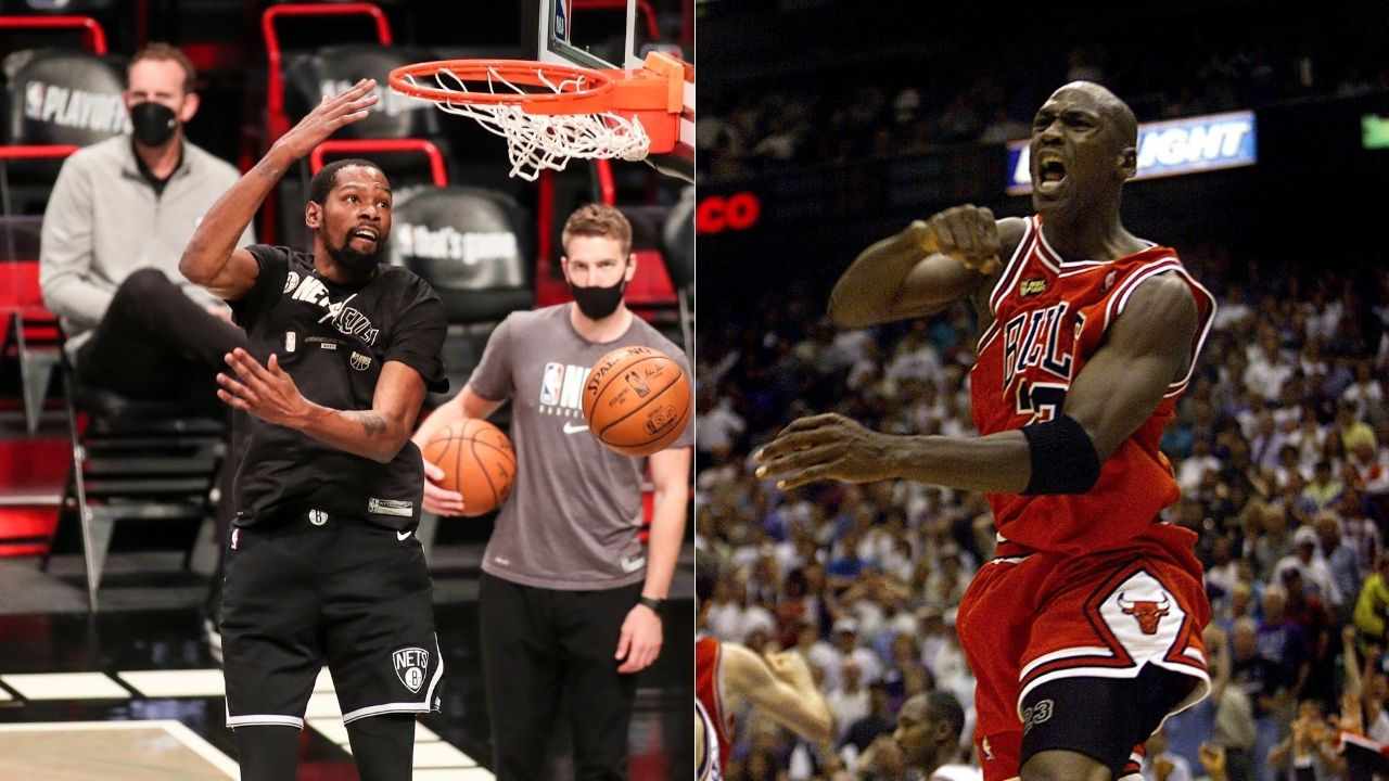 """""""I think Kevin Durant is more gifted than Michael Jordan"""": Warriors head coach Steve Kerr gives huge props to the Brooklyn star, calling him a more gifted player than the GOAT"""