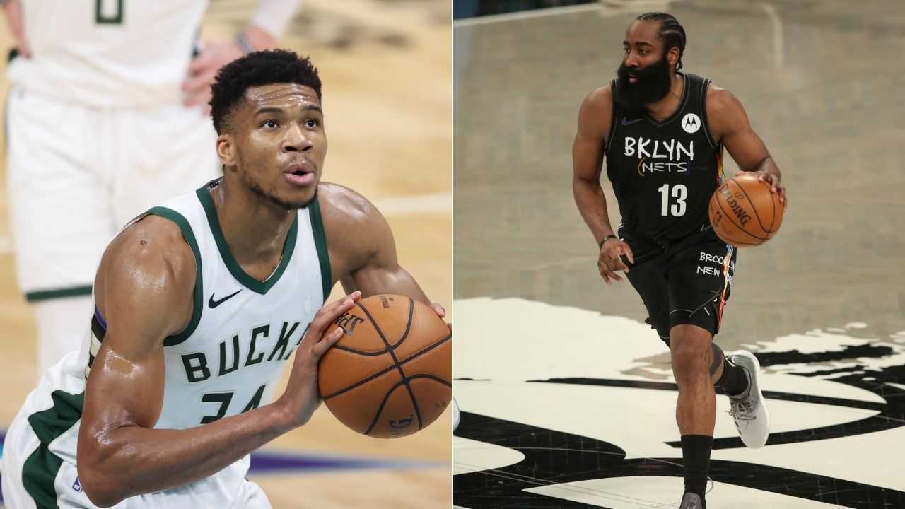 """""""James Harden is annoyed at Giannis Antetokounmpo's lengthy free throw routine"""": Nets star was visibly put off by Bucks MVP's wind-up in Game 6"""