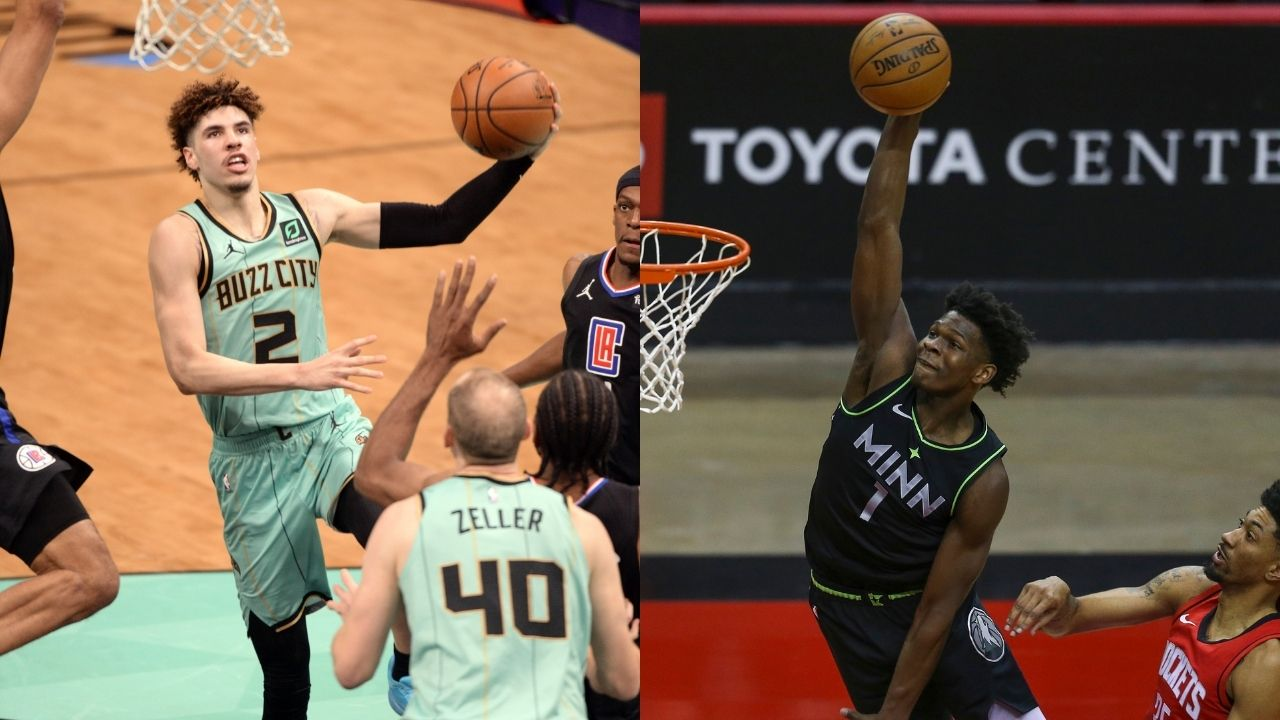 """""""LaMelo Ball, you know you can't f**k with Anthony Edwards"""": The Timberwolves rookie calls out the Hornets guard for not being deserving of Rookie of the Year honors"""