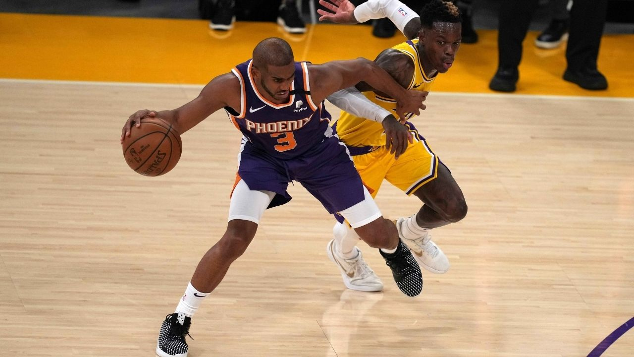 """""""ASK ME ABOUT ME,"""" Chris Paul roared at the Staples Center crowd after hitting a step back jumper in the Suns win against the Lakers"""