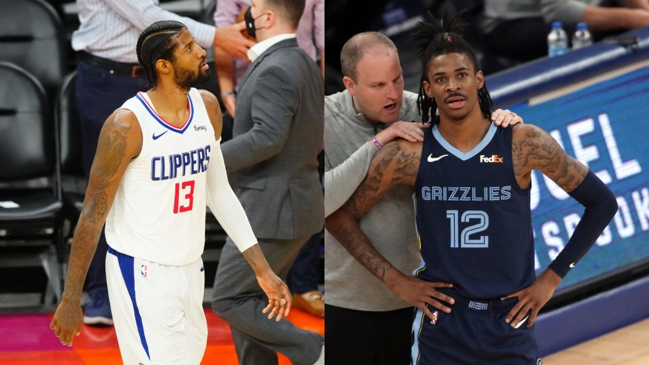 """""""Mfs be quick to talk bout PG"""": Ja Morant has a NSFW reaction as Paul George and 'Pandemic P' slanders resurface after Game 2 of the WCF"""
