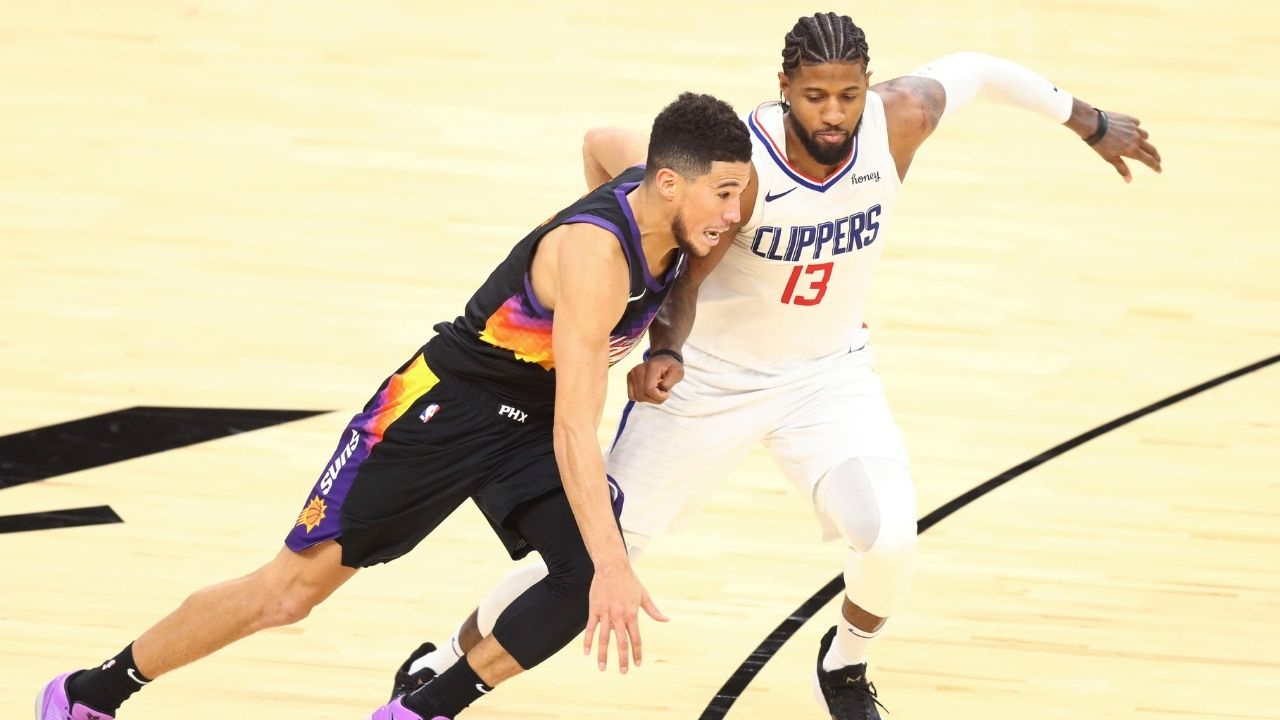 """""""Devin Booker talked more trash to """"Pandemic P"""" than anyone"""": Skip Bayless salivates at Paul George leading Clippers against Phoenix Suns in the Western Conference Finals"""