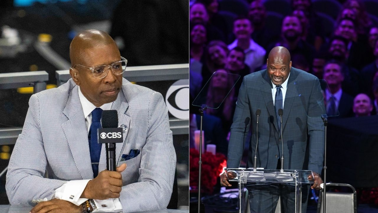 """""""Shaq smoked Kenny Smith in race to the big board again"""": Former Rockets shooter just can't win a foot race on Inside the NBA any more"""