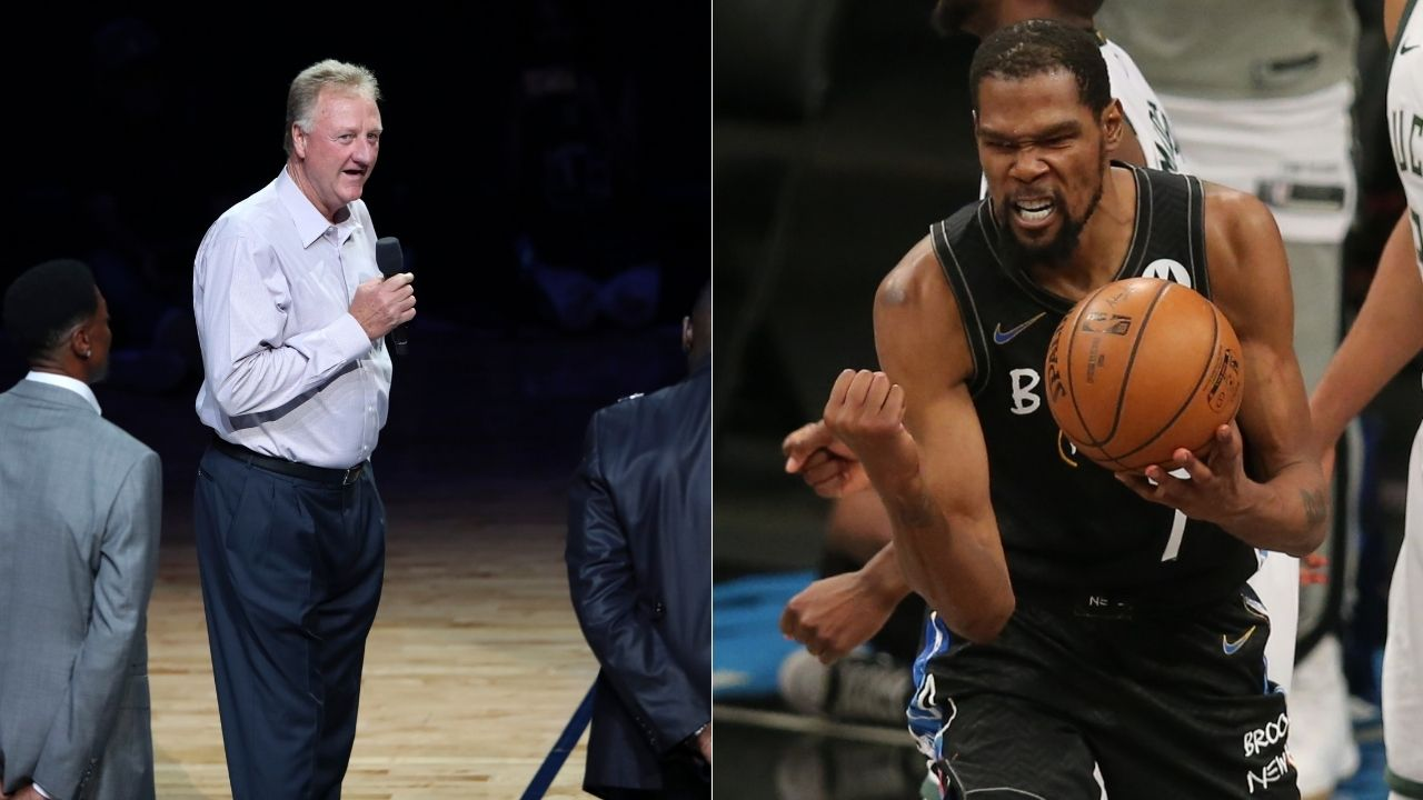 """""""Kevin Durant could knock off Larry Bird from Mount Rushmore"""": NBA analyst questionably compares Nets star to the Celtics legend after his 49-point triple-double"""