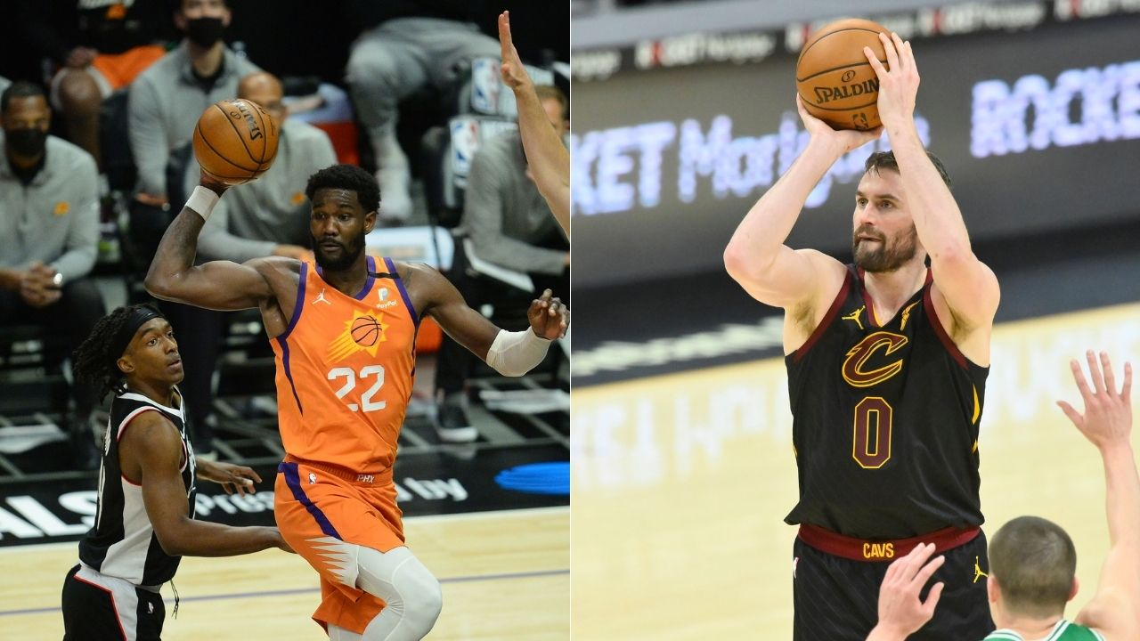 """""""Kevin Love needs to be replaced by Deandre Ayton"""": Jalen Rose calls the Cavs star's inclusion in the 2021 Olympics roster pandering to USA's white majority"""