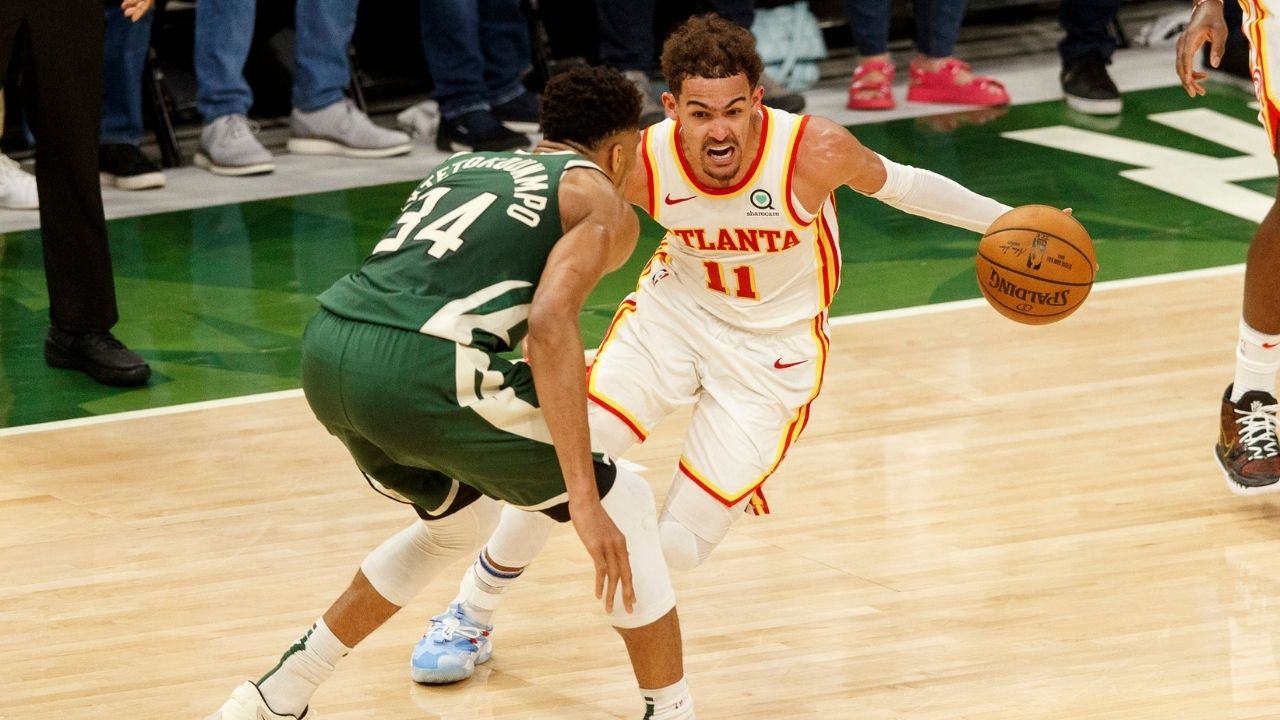 """""""Giannis wasn't pleased with Trae Young's shimmy"""": Greek Freak reacted angrily to Hawks star's shimmy and 3-pointer during timeout"""