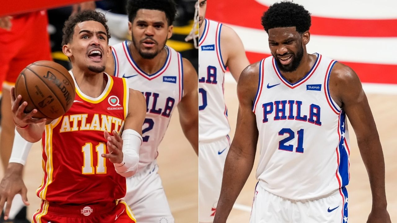 """""""Trae Young and I both complain about fouls"""": Joel Embiid gives huge props to the Hawks star for his basketball IQ in earning free throws"""