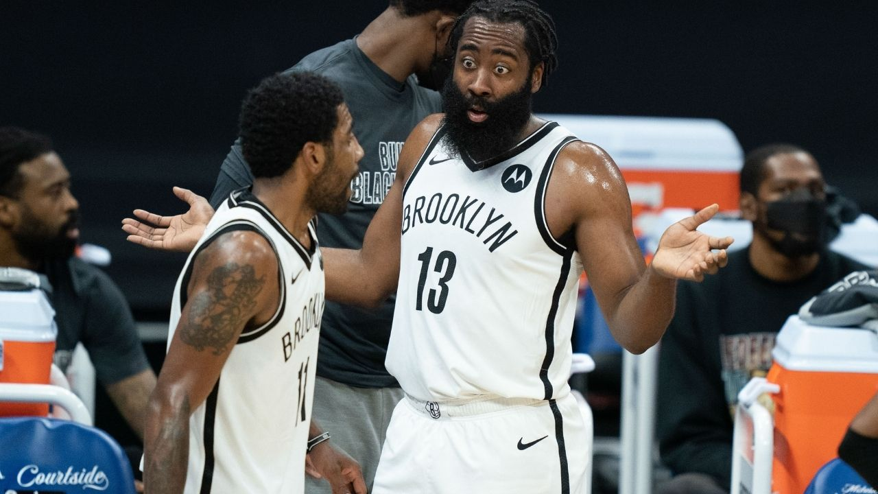 """""""We're going to feel James Harden's loss no matter what"""": Kyrie Irving talks about the emotions he felt following the Nets superstar's injury in Game 1"""
