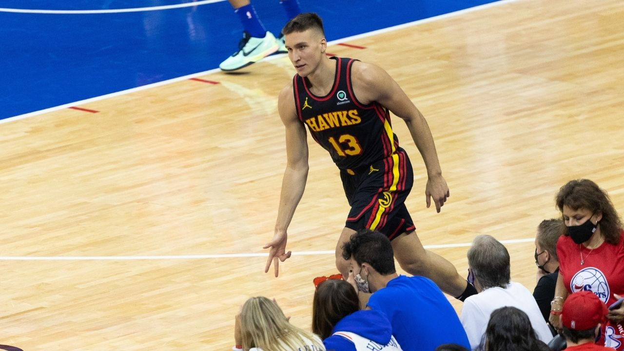 """""""No one is attacking you with coins or lighters here"""": Hawks sharpshooter Bogdan Bogdanovic reveals why playing in Europe is much tougher than in the NBA"""