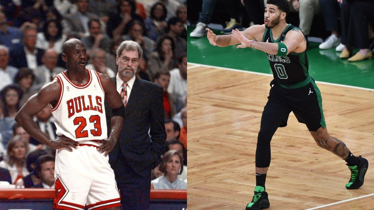 """""""I knocked over Michael Jordan's wine glass and it broke"""": Jayson Tatum recalls the hilariously embarrassing moment that ensued when he met the 'GOAT' for the first time"""
