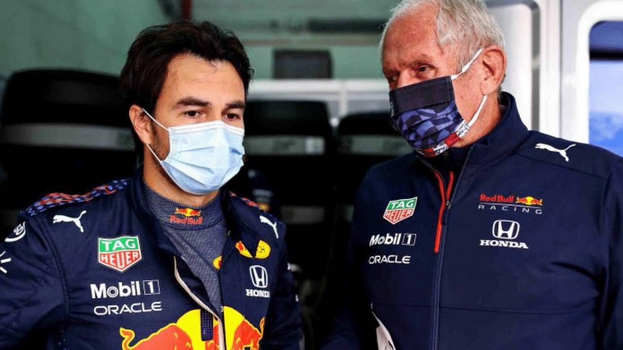 """Thank god Perez had spinning wheels at the restart"" - Helmut Marko"