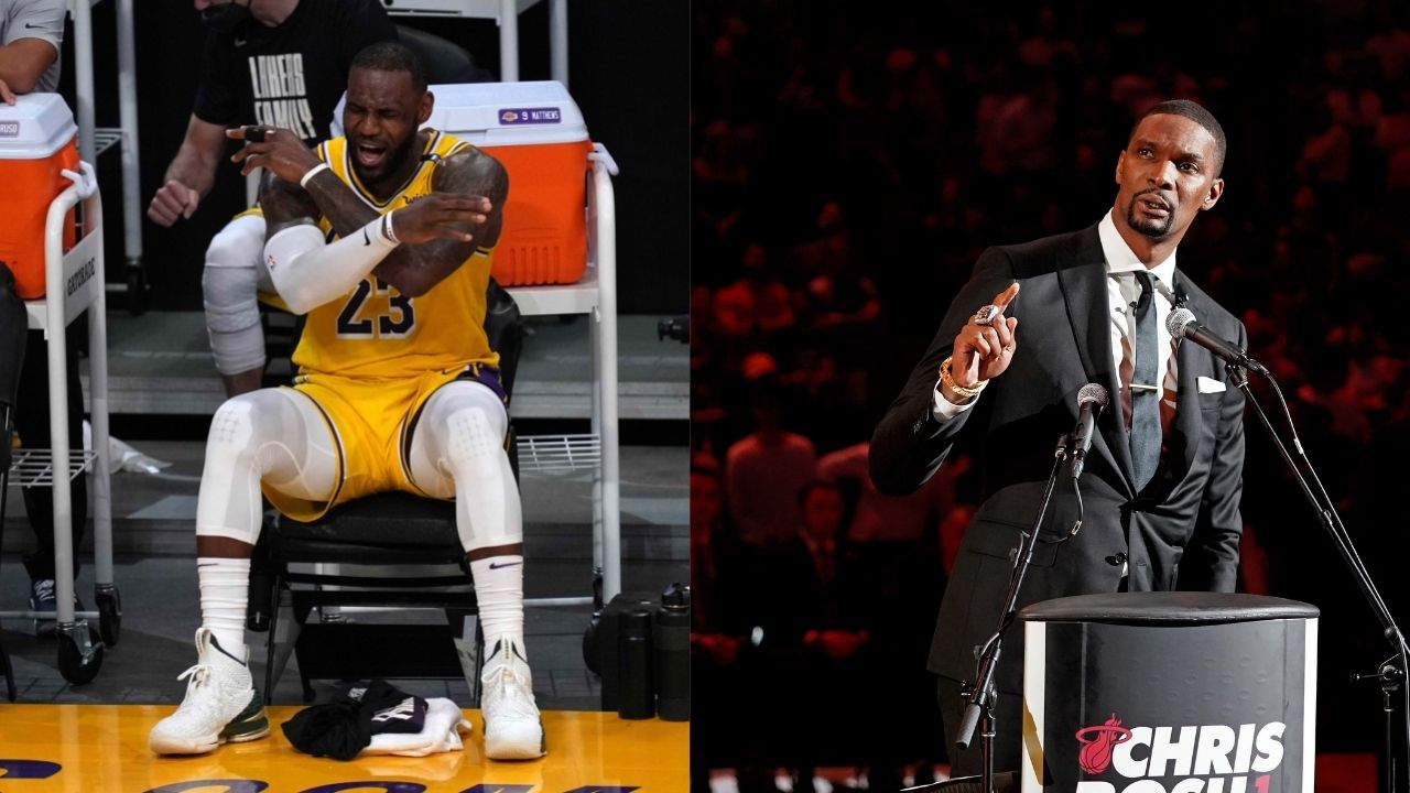 """""""LeBron James has maybe one or two years left"""": Former teammate Chris Bosh talks about how long the King can sustain his level of play"""