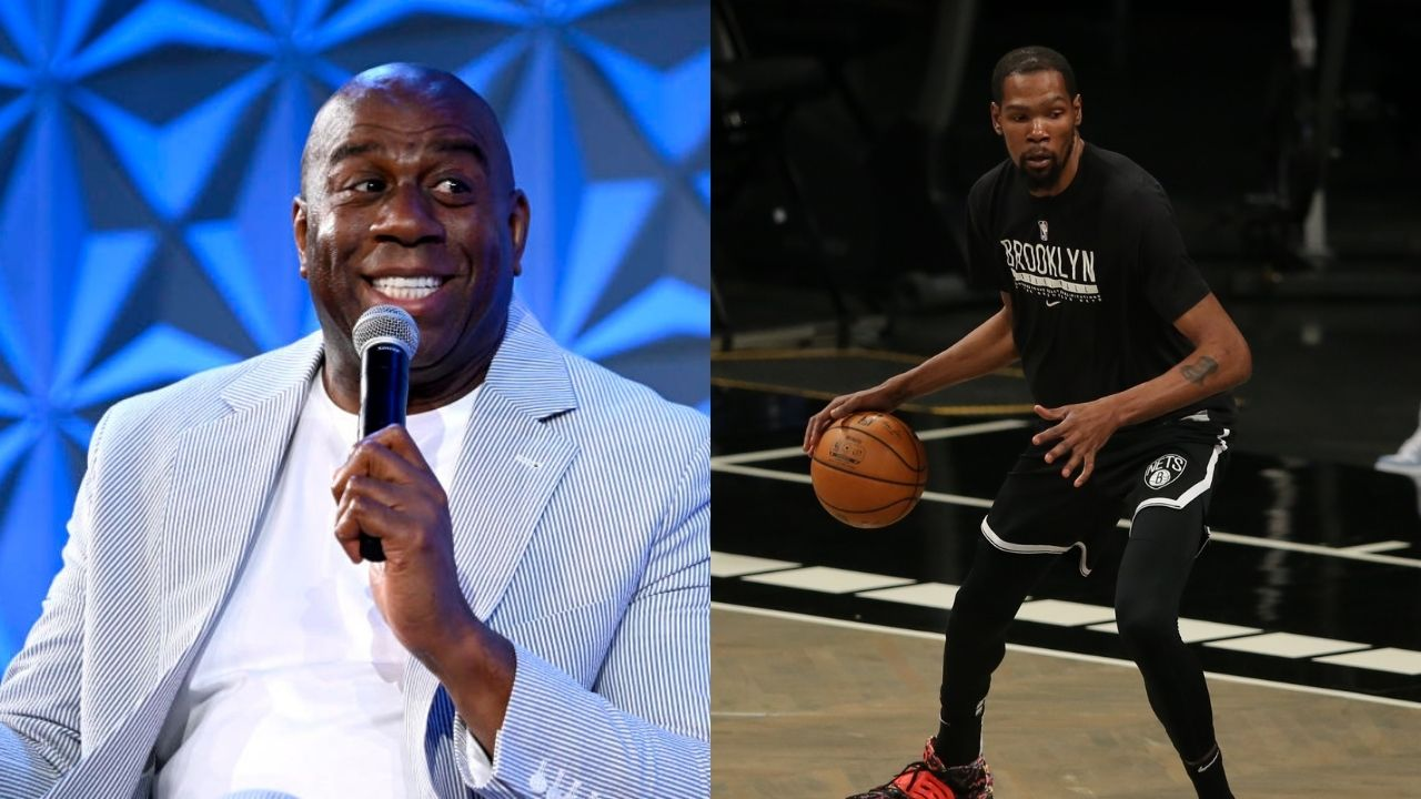 """""""Kevin Durant had a Michael Jordan and Kobe Bryant-type of performance"""": Lakers legend Magic Johnson compares the Brooklyn Nets star to the GOATs following a historic second round playoff performance"""