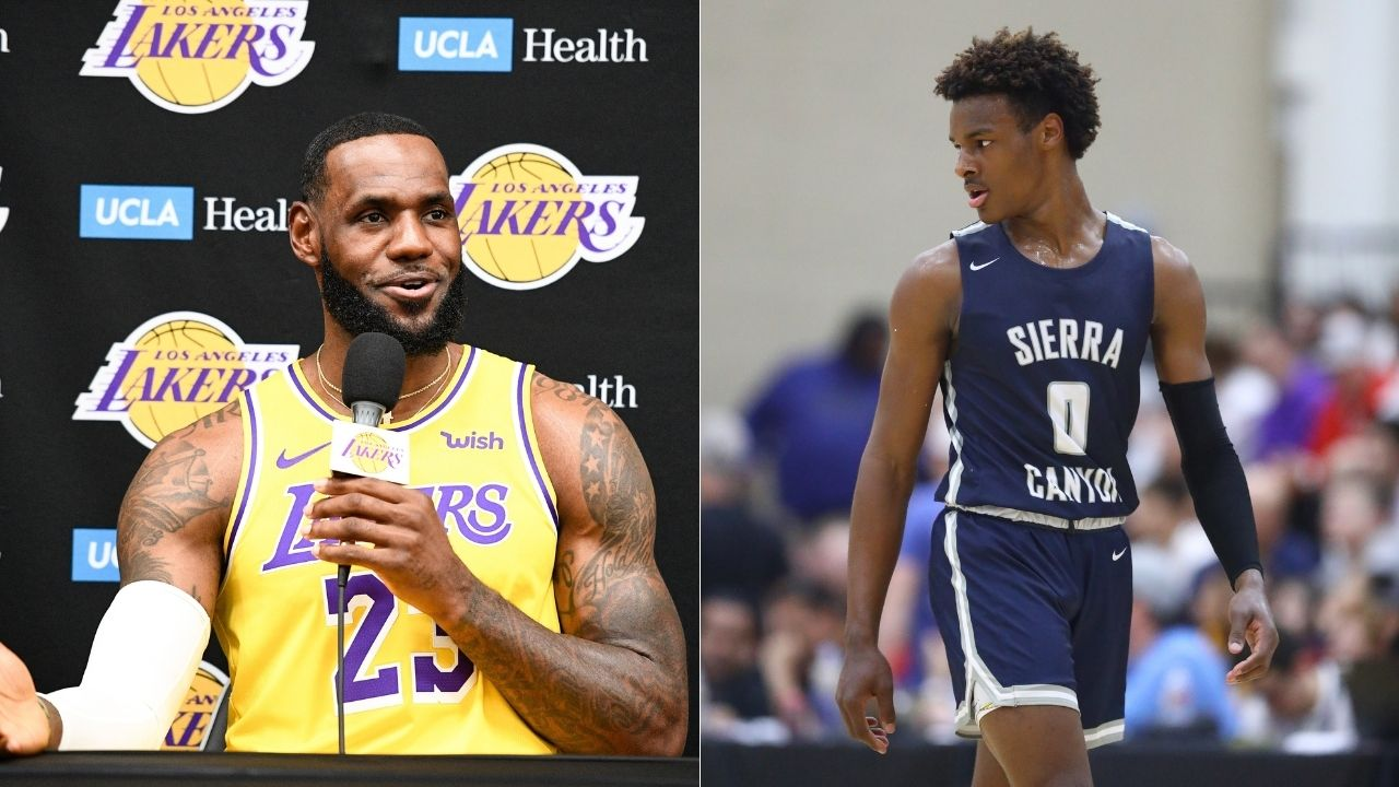 """""""Bronny James is 1 of 1, real talk"""": LeBron James and Kendrick Perkins proudly endorse the Young King's brilliance as cited by a scouting report of the possible 2024 draftee"""