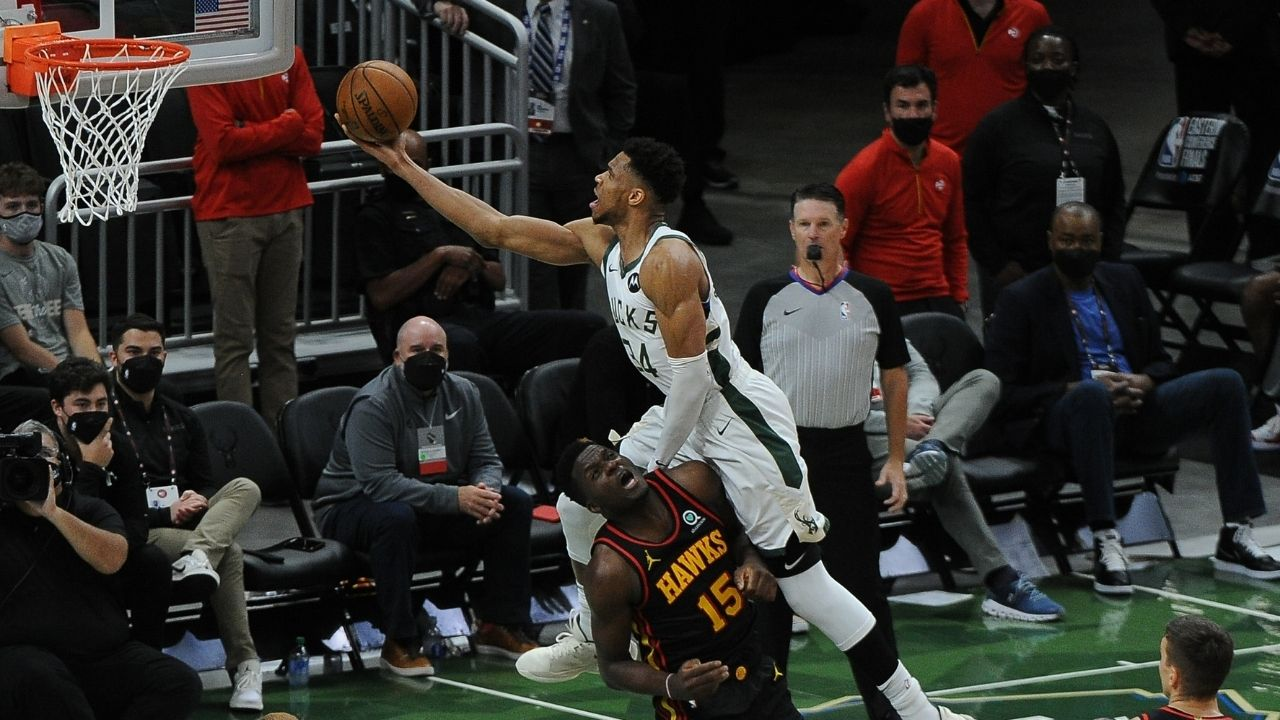 """""""PJ Tucker has diamonds in his shoes!"""": Giannis jokes around with former James Harden teammate as Bucks board team plane to Atlanta for Game 3"""