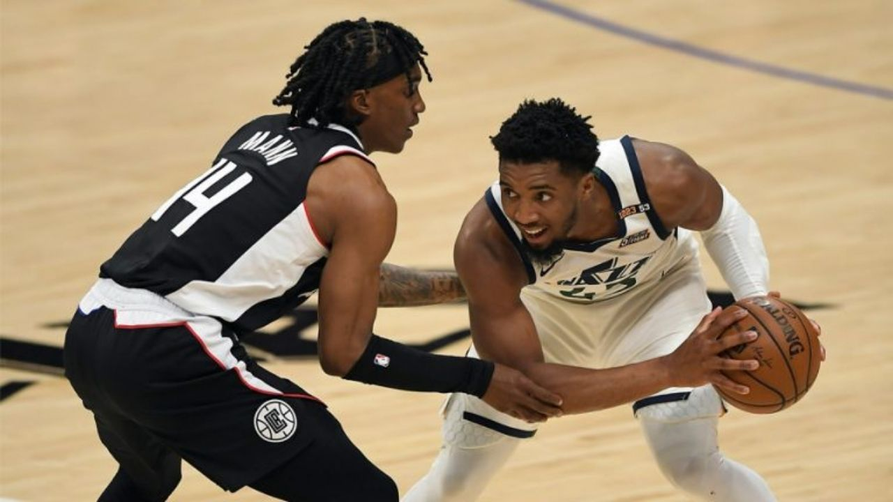 """""""Salute to Terance Mann... He's always been a warrior!"""": Donovan Mitchell praises the Clippers' forward after his career-high 39 point performance propelled the comeback Game 6 win"""