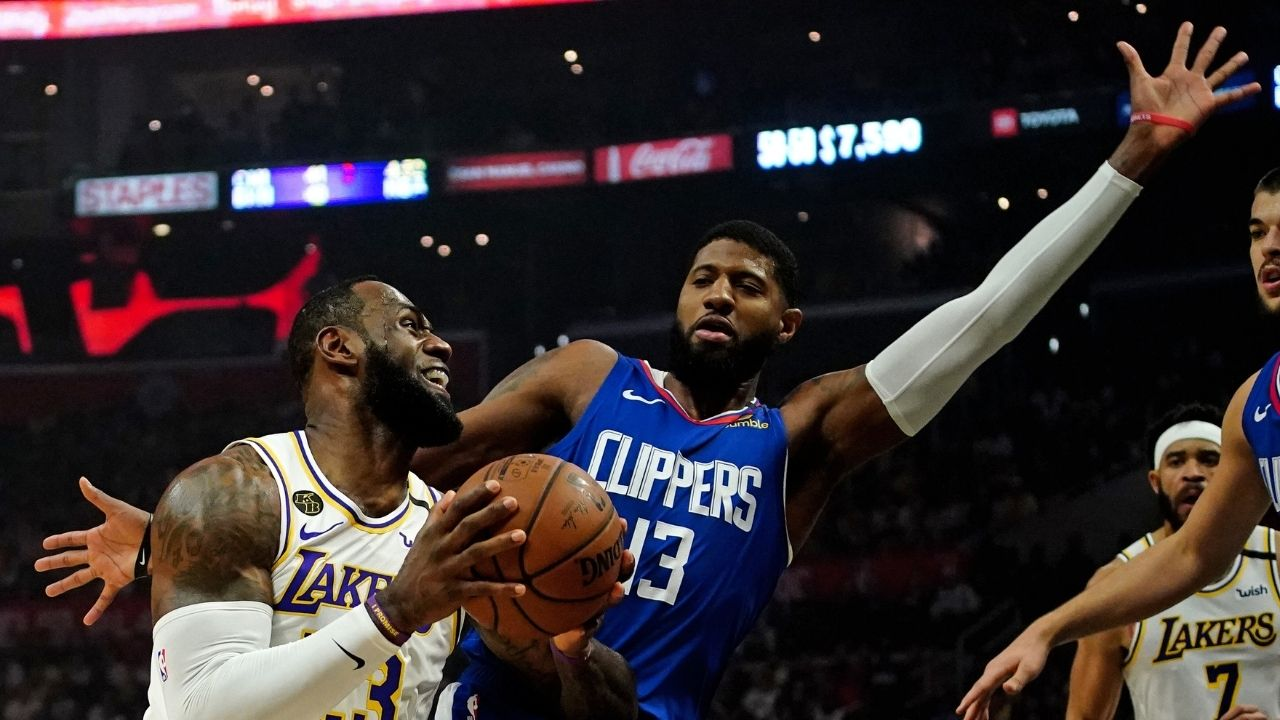 """""""Heard LeBron James saying he's not 100%...You gotta take it and be able to adapt"""": Paul George takes a subtle dig at the Lakers' superstar about injury comments"""