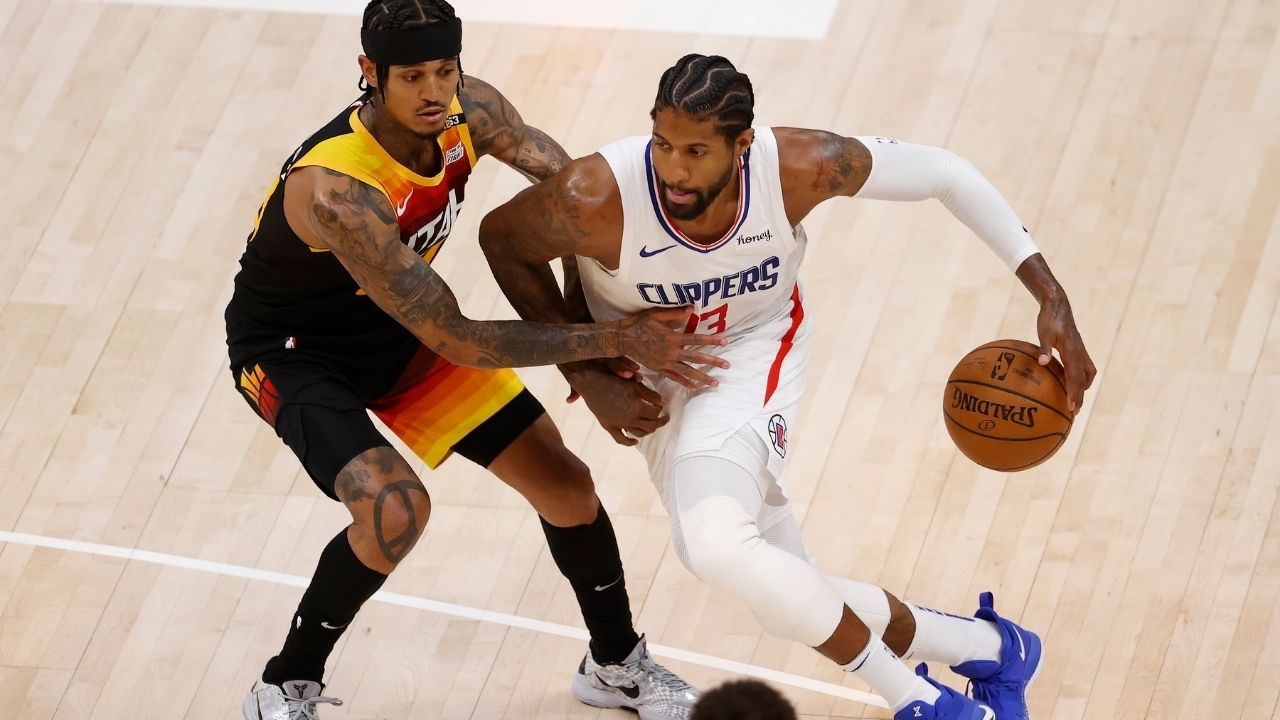 """""""Can anybody find Paul George?!"""": Kendrick Perkins blasts the Clippers superstar following his inefficient playoff performances after the Game 1 loss against Donovan Mitchell and his Jazz"""