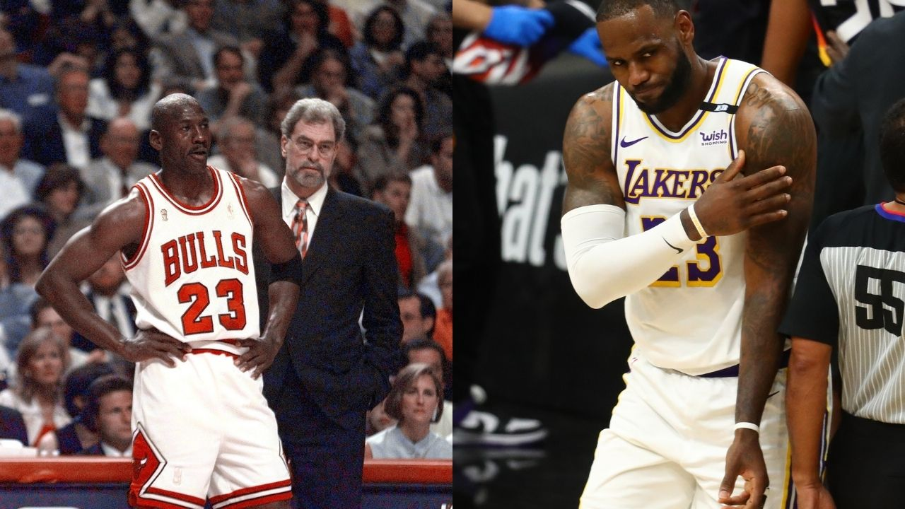"""""""Michael Jordan would've never left his team on the floor"""": Jalen Rose goes off on LeBron James for giving up on the Lakers once Anthony Davis got injured"""