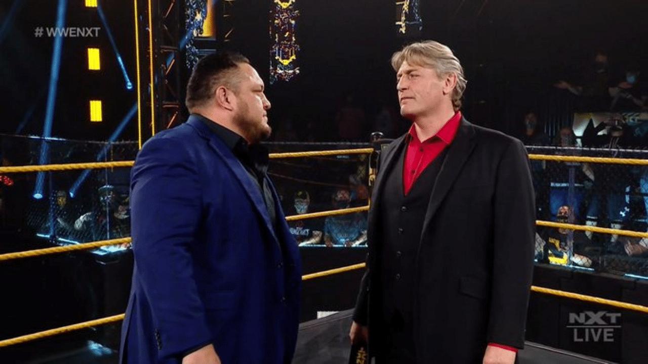 Samoa Joe makes WWE NXT return as William Regal's enforcer