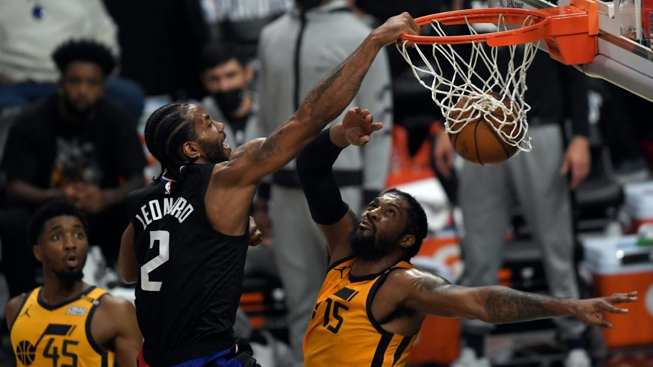 """""""Oh my God! See that Kawhi Leonard dunk?"""": Sixers' Joel Embiid is in awe after watching the Clippers' star dunk over Derrick Favors"""