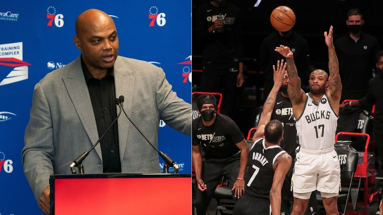"""""""PJ Tucker, this is the first time you haven't taken a corner shot"""": Charles Barkley hilariously calls out Bucks' defensive ace ahead of Game 1 vs Hawks"""