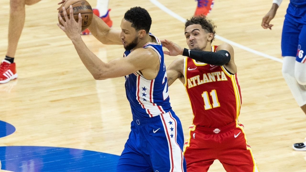 """""""Hey ref! Ben Simmons should shoot free throws!"""": Trae Young trolled Sixers star in Game 3 loss for his inconsistent form from the charity stripe"""