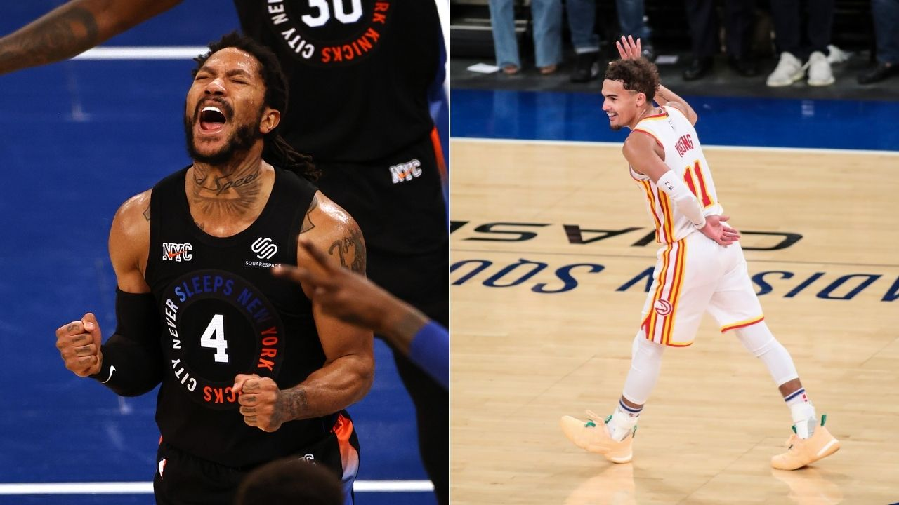 """""""Trae Young? I've always been his fan"""": Derrick Rose gives major props to Hawks guard after Atlanta knock New York Knicks out with Game 5 win"""