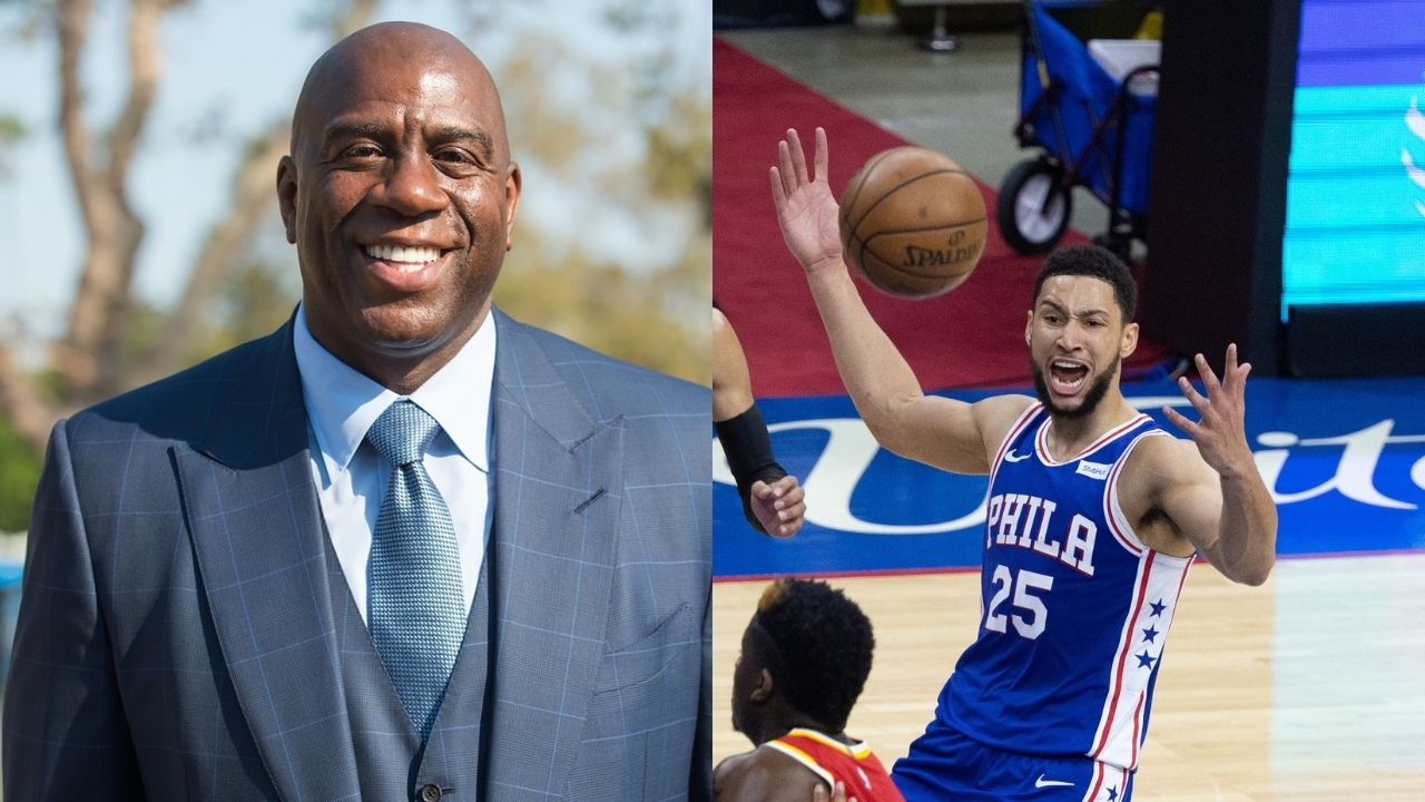 """""""Ben Simmons needs to play at summer leagues"""": Magic Johnson gives advice to the Sixers star to help raise his confidence amidst horrid shooting woes"""