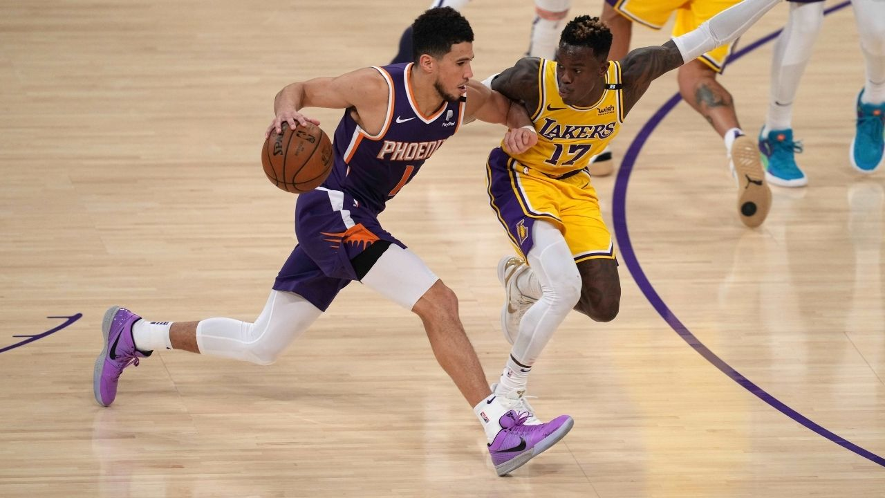 """""""That's tuff"""": Devin Booker mocks Dennis Schroder on Instagram after Suns beat Lakers 4-2 in first round matchup"""