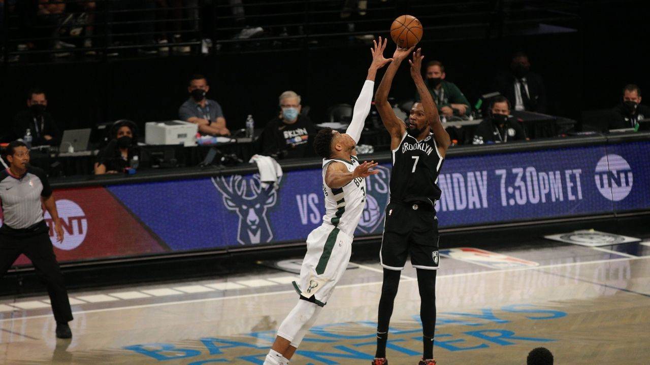 """""""F**k Kevin Durant!"""": Milwaukee Bucks crowd yells expletives at the Nets superstar as he goes up against Giannis Antetokounmpo and co in Game 3"""