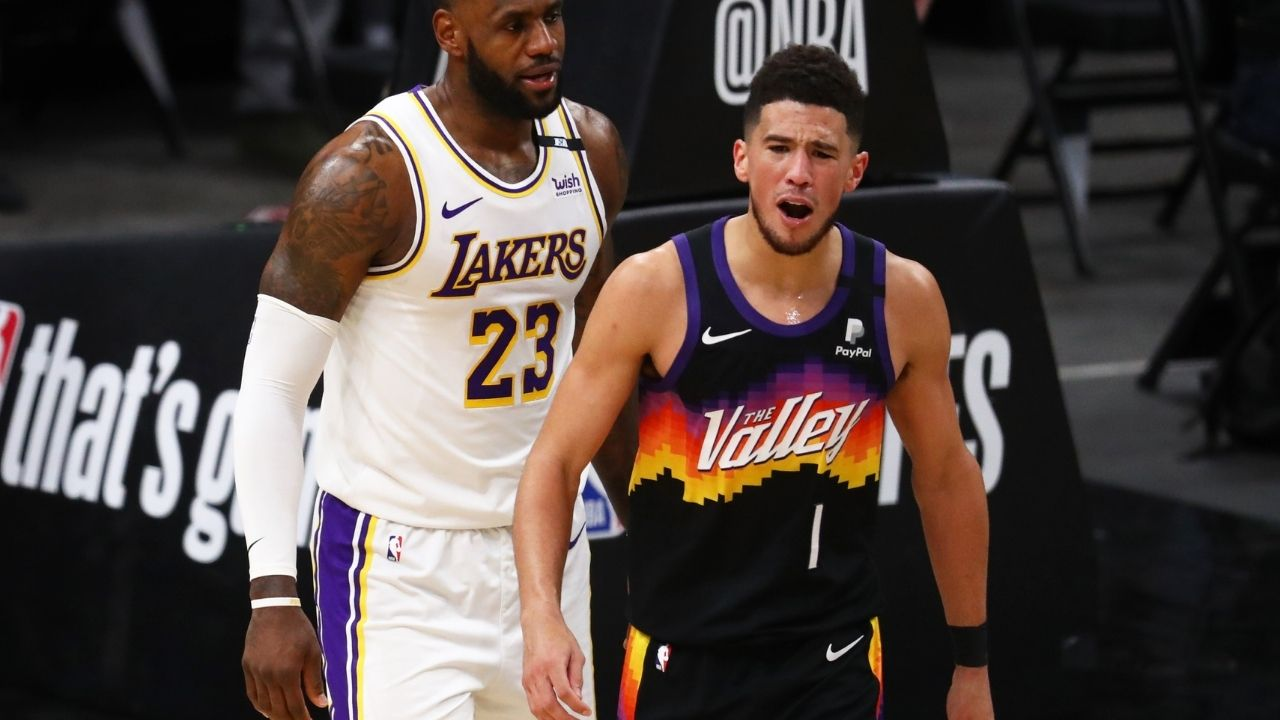"""""""Devin Booker stole LeBron James's jersey number"""": NBA fans react to the Suns superstar owning the Lakers MVP's last game-worn no.23 jersey following his switch to no.6"""