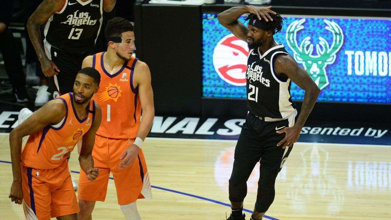 """""""Patrick Beverley is hugging Devin Booker like a pair of leggings"""": Kendrick Perkins explains what the Suns need to get right vs Clippers in Game 4 today"""