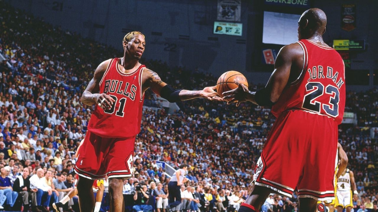 """""""Michael Jordan and Scottie Pippen would always miss coming off the right"""": Dennis Rodman maniacally studied rebounding while not revealing too many of his secrets"""