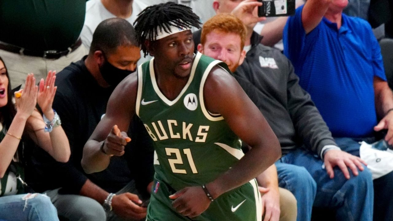 """""""PJ Tucker sweats way too much man!"""": Jrue Holiday hilariously roasts his Bucks teammate during his Media day interview ahead of Game 4"""