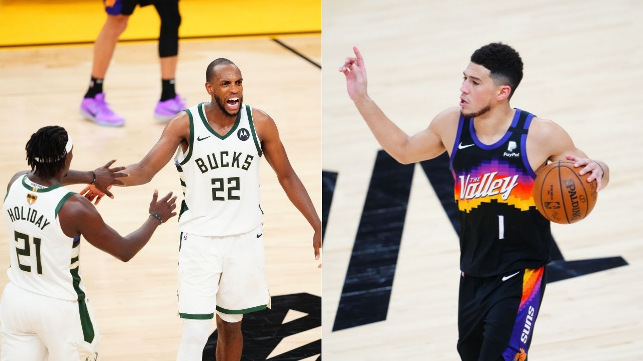 """""""Devin Booker, Holiday and Middleton are true professionals for keeping their word and participating in the Olympics"""": Draymond Green compliments his USA Basketball teammates for their commitment right after the 2021 NBA Finals"""