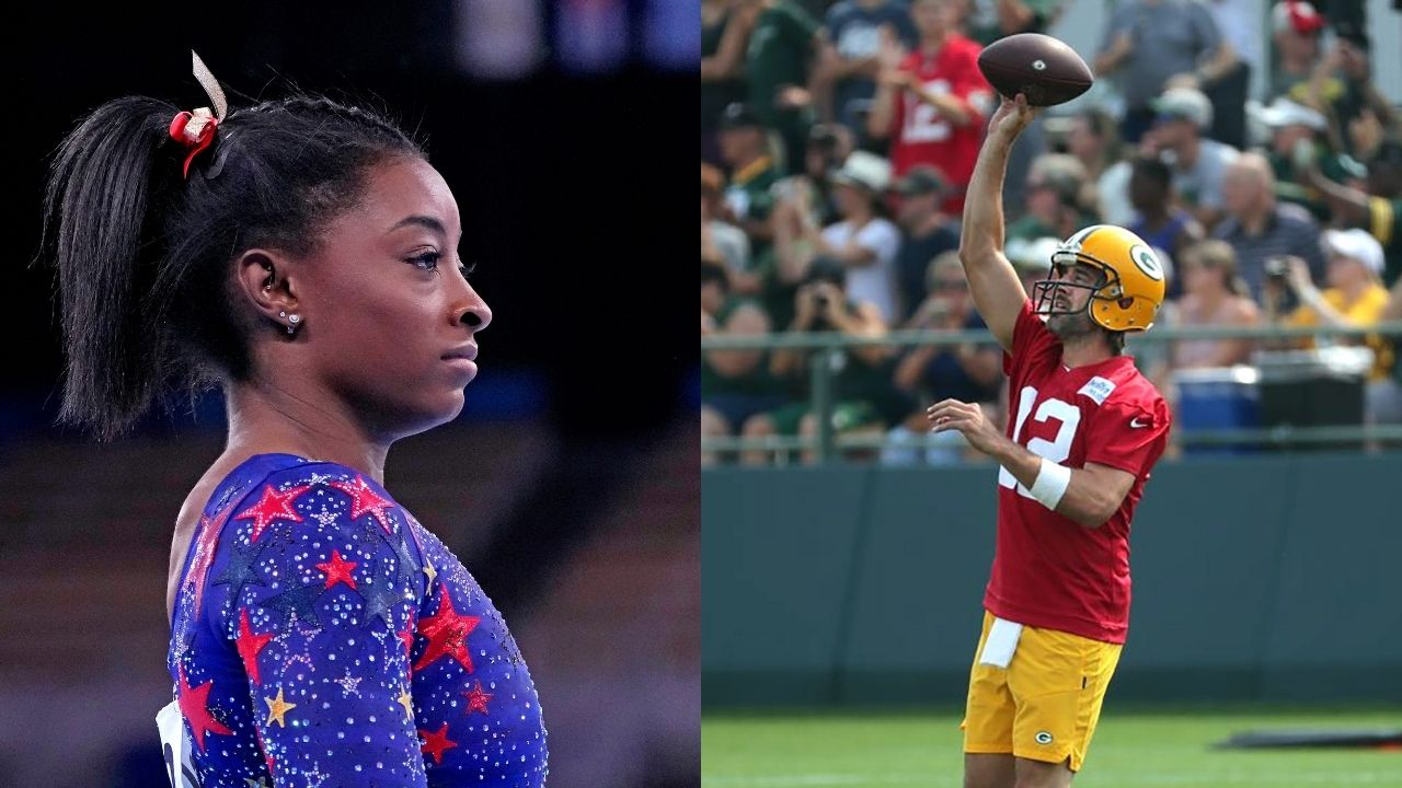 """""""I spent this off-season working on my mental clutter"""": Aaron Rodgers stand by Gymnast Simone Biles decision to not participate in Olympic Final"""