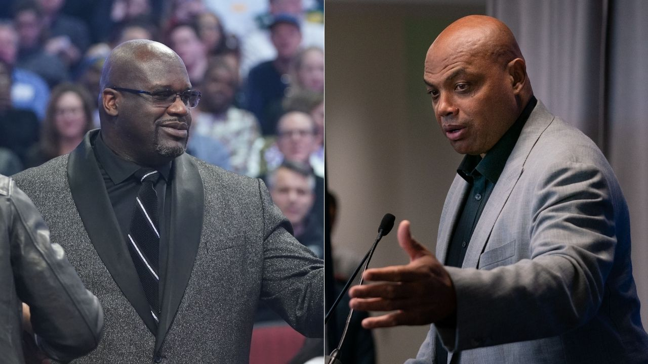 """""""Shaquille O'Neal wasn't ready to have money thrown on him"""": The Lakers legend hilariously gets showered with money after Charles Barkley 'GUARANTEES' the Bucks will win the NBA Finals"""