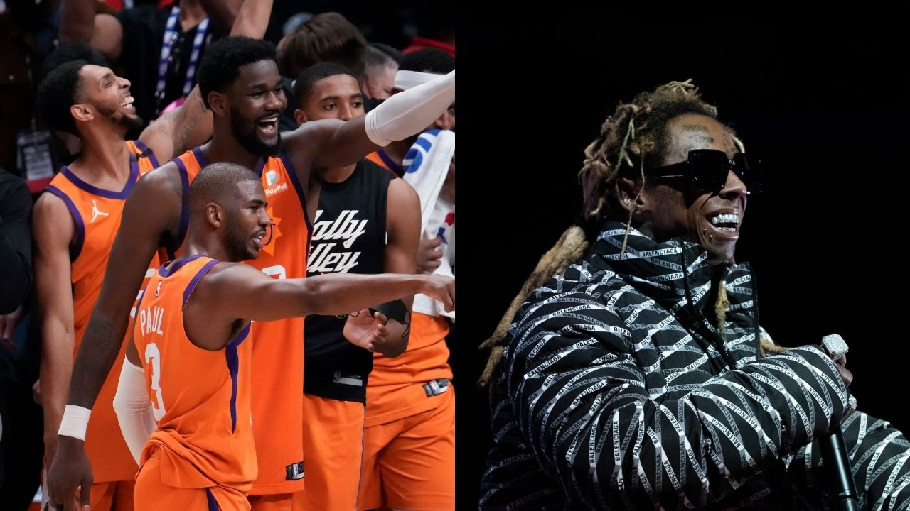 """""""Chris Paul and Lil Wayne have genuine love for each other"""": Skip Bayless reacts to the Suns superstar and the rapper hugging it out following their Game 6 win over Paul George and the Clippers"""