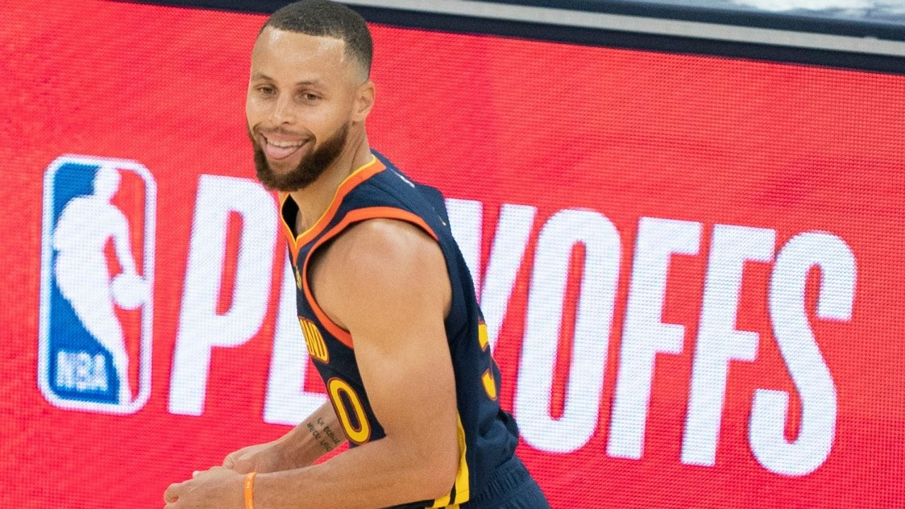 """""""Stephen Curry is LeBron James' Dad!"""": Warriors superstar almost falls over laughing as a fan yells out a hilarious joke throwing shade at the Lakers star"""