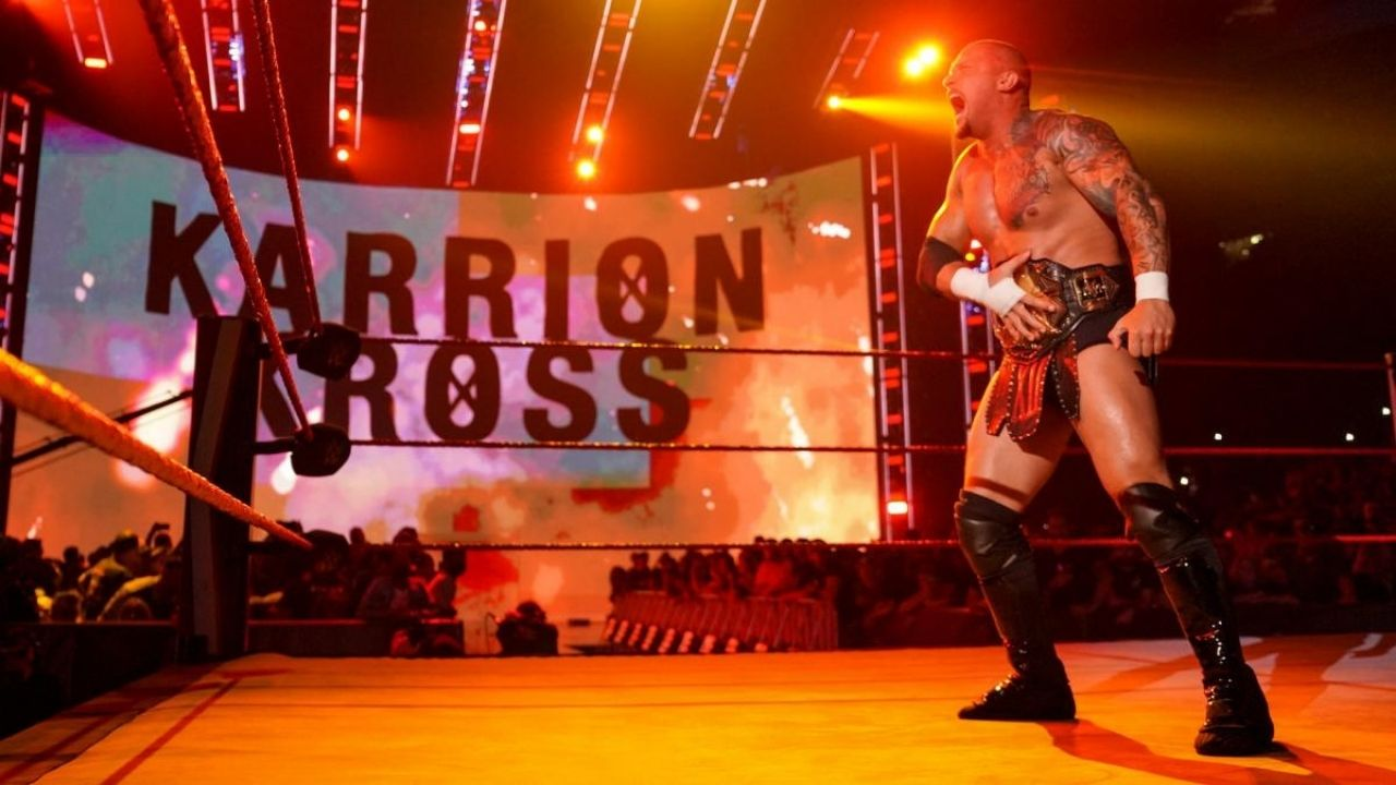 Entire segment with Karrion Kross re-shot due to crowd chants
