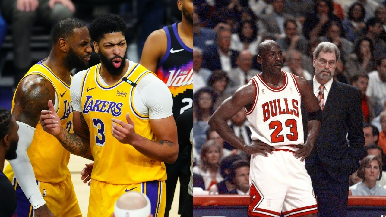 """""""LeBron James or Michael Jordan?"""" Anthony Davis shockingly picks between the 'GOAT' and the Lakers MVP following the release of Space Jam 2"""