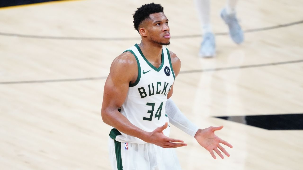 """""""I'm just here so I don't get fined"""": Giannis Antetokounmpo jokes about pulling a Marshawn Lynch ahead of NBA Finals Game 3 vs Suns"""