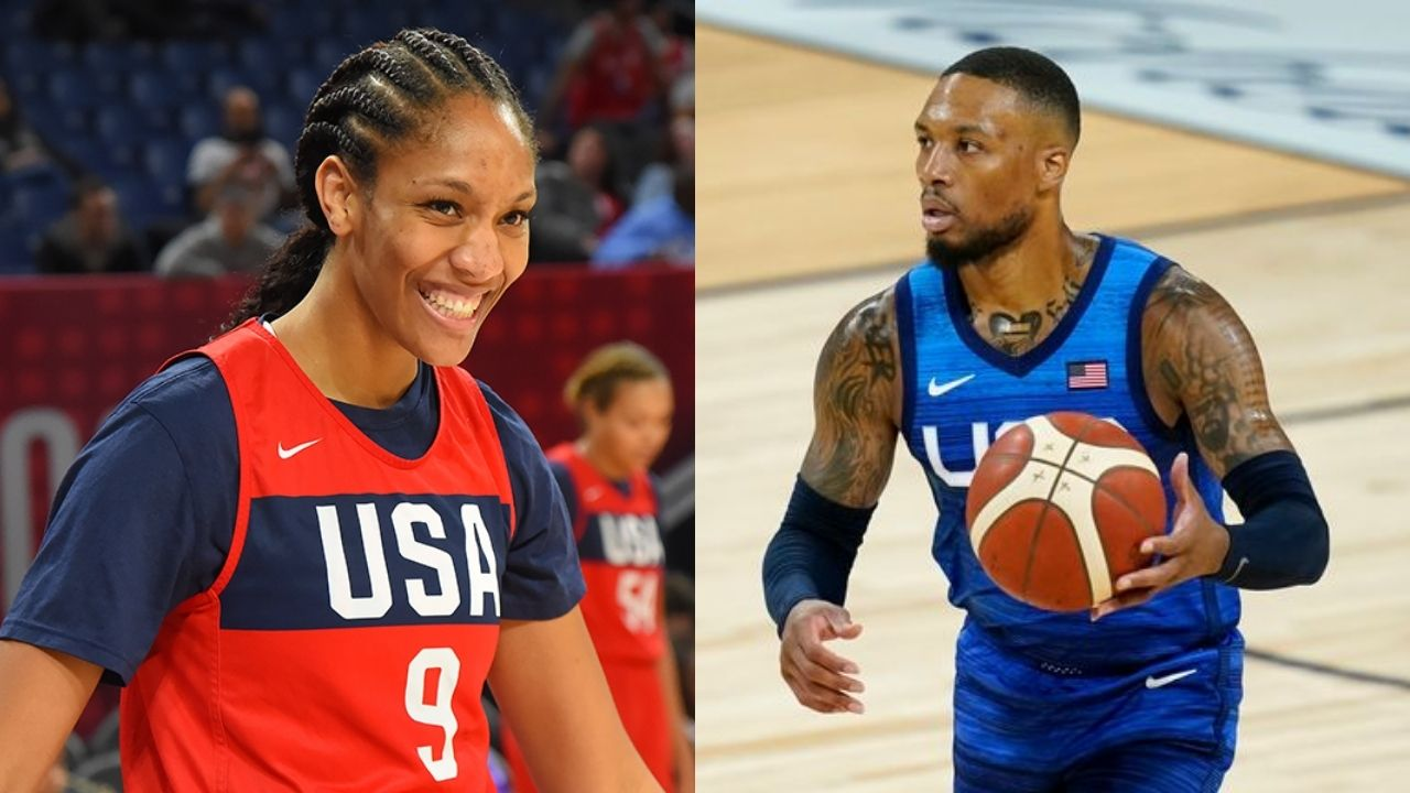 """""""Damian Lillard can't catch a break!"""": Blazers' superstar snatches A'ja Wilson's phone after getting roasted by the 2020 WNBA MVP and the USWBNT for his fresh haircut"""