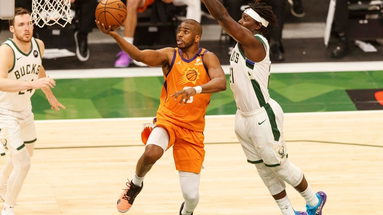 """""""Chris Paul is falling off like leaves in winter!"""": Kendrick Perkins praises Jrue Holiday's defense, criticizes Suns star for regressing as Bucks level the NBA Finals 2-2"""