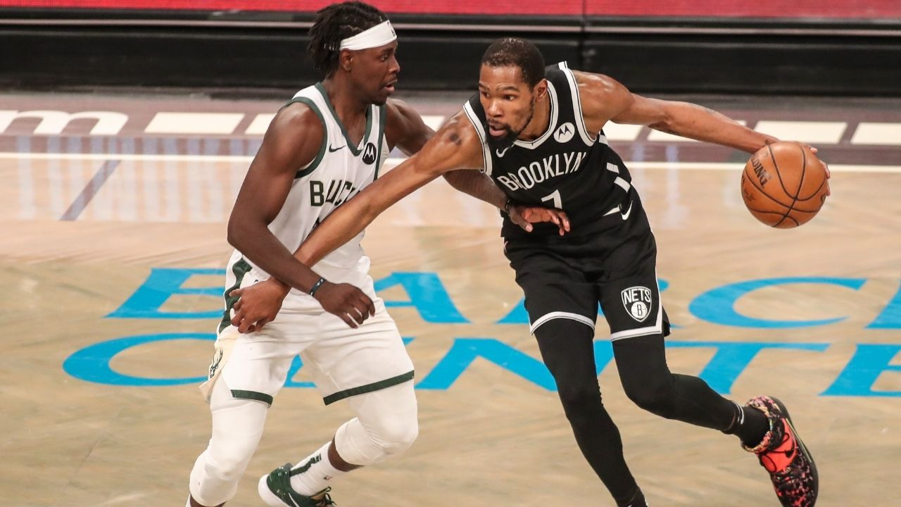 """""""Jrue Holiday is solidified as NBA's best defender"""": When Kevin Durant heaped praise on the Bucks' defensive ace, calling him the best defensive guard in the NBA"""