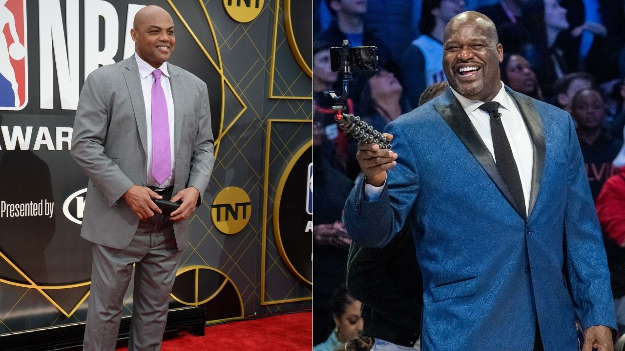 """""""Charles Barkley, why are your eyebrows always in 'huh' mode?"""": When Shaquille O'Neal hilariously roasted his NBAonTNT co-host for waxing his eyebrows"""