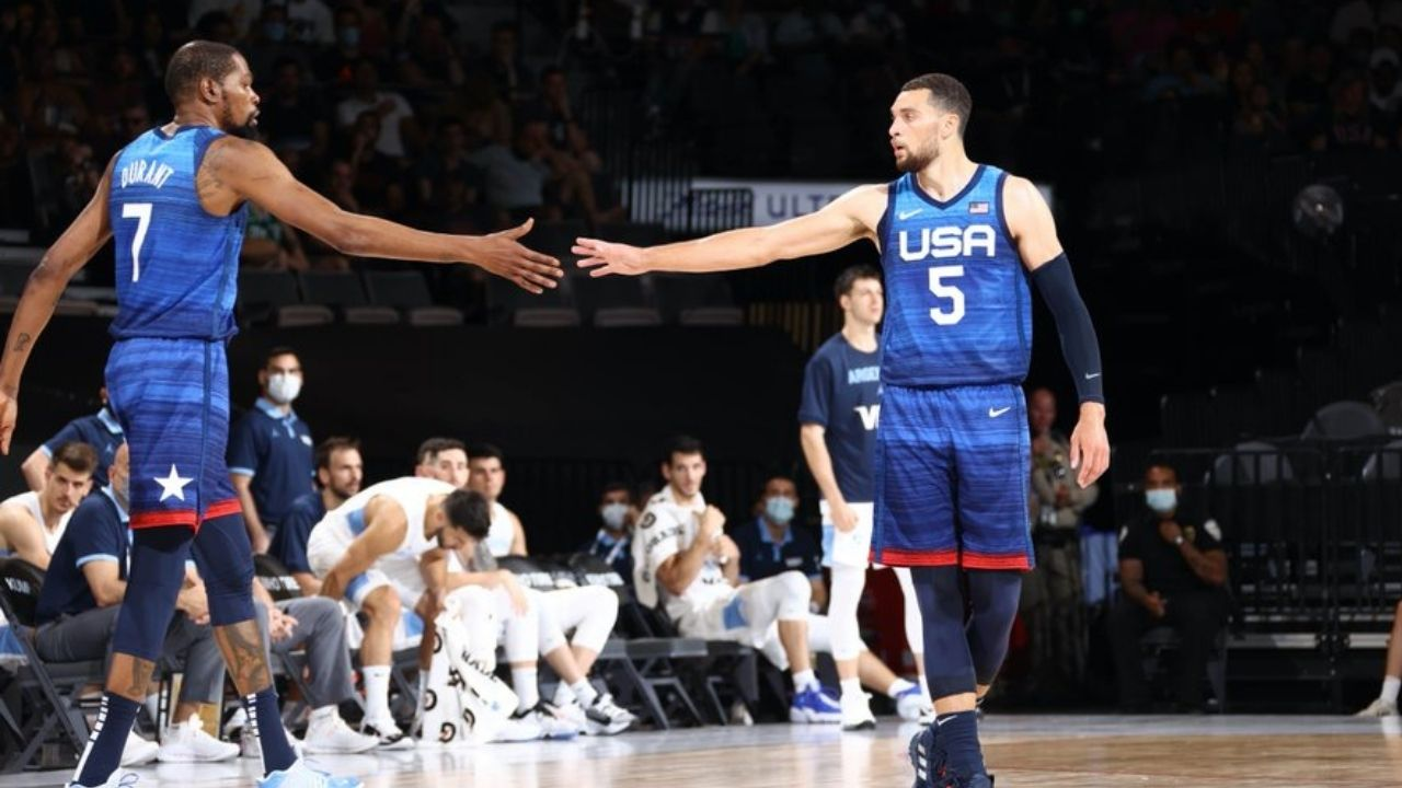 """""""Team USA Basketball is trying Clippers' 0-2 strategy"""": Kevin Durant and co. defeat Argentina 108-80 after suffering back-to-back losses"""