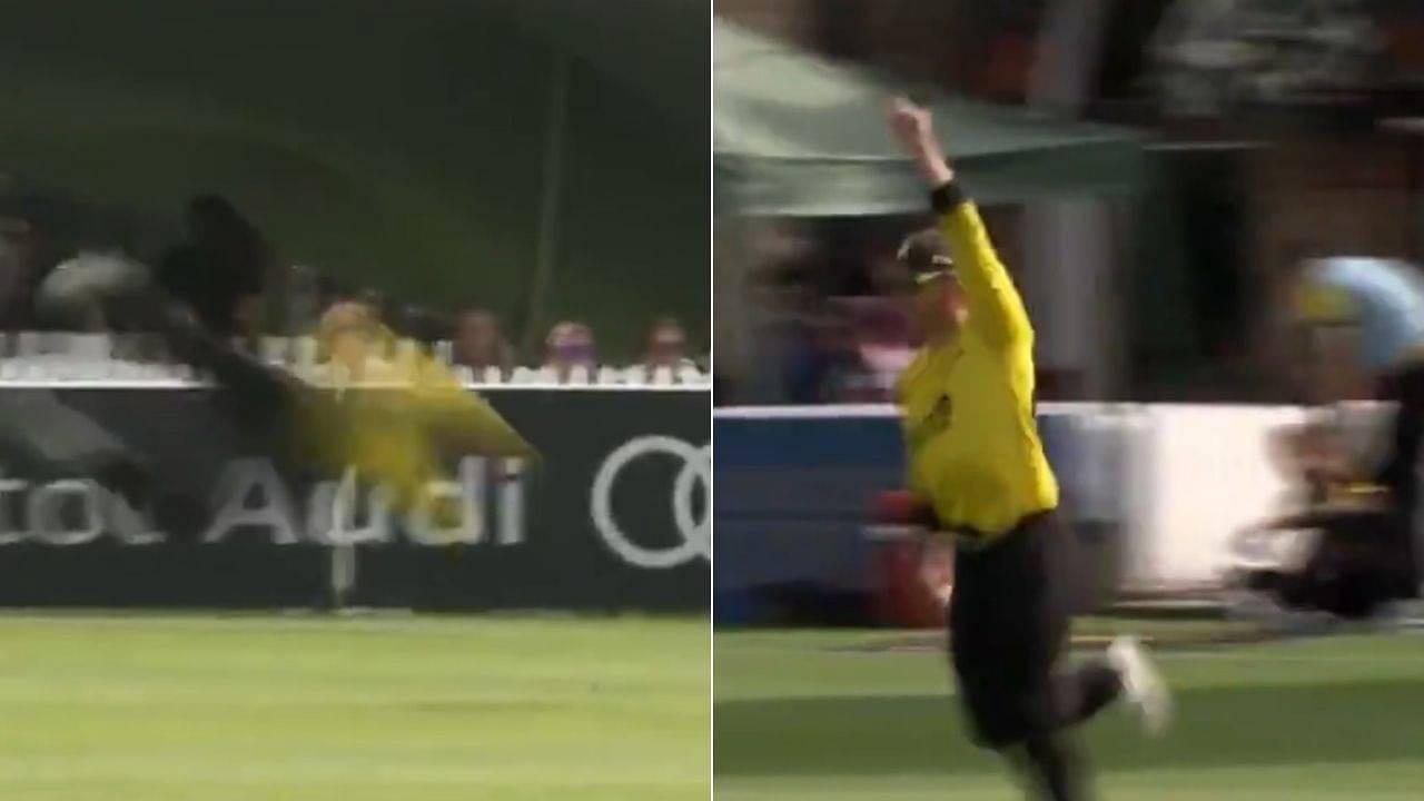 Glenn Phillips catch vs Middlesex: Gloucestershire player grabs absolute stunner to dismiss Stephen Eskinazi in T20 Blast 2021