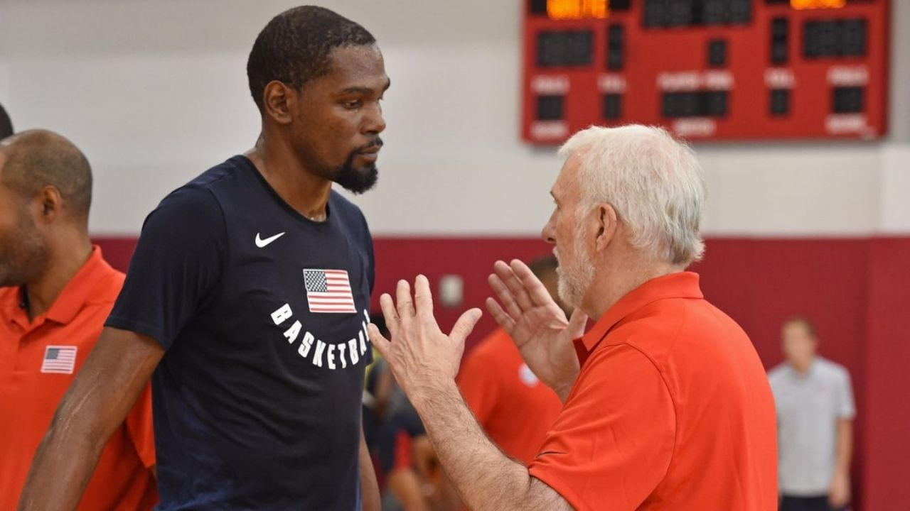 """""""If Kevin Durant said no, I would've begged, cried, done anything to change his mind."""": Team USA Head Coach Gregg Popovich talks about how important the Nets' superstar's presence was for him"""